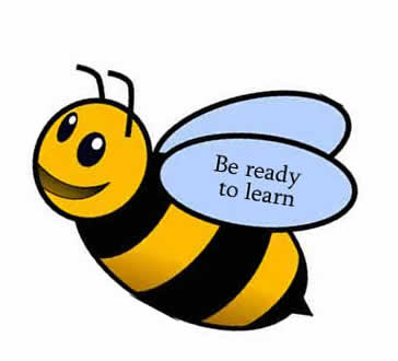 Be ready to learn - bumble bee image