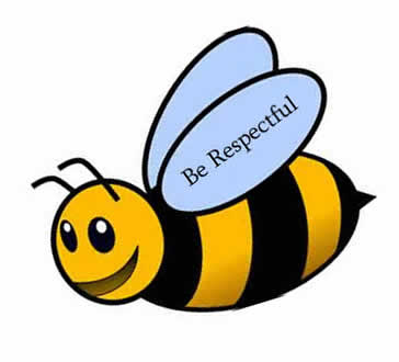Be Respectful - bumble bee image