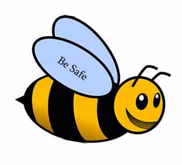 Be Safe - bumble bee image