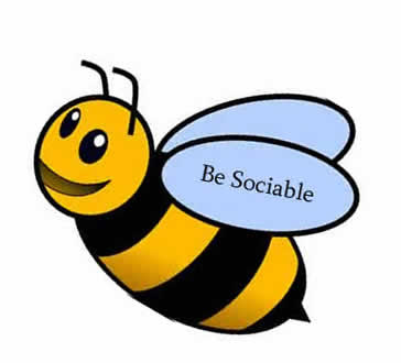 be sociable - bumble bee image
