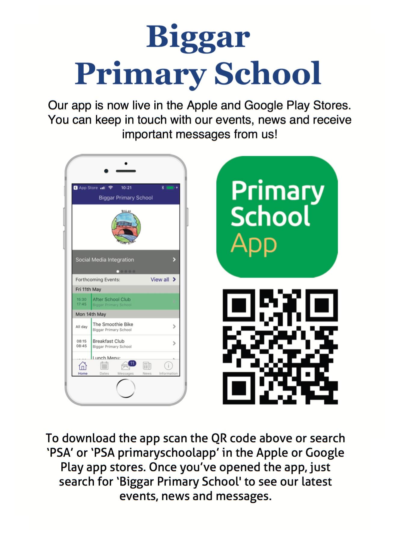 Biggar School App Instructions